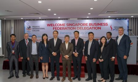 Chairman of KinderWorld Education Group and Pegasus International College welcomed business leaders from Singapore companies