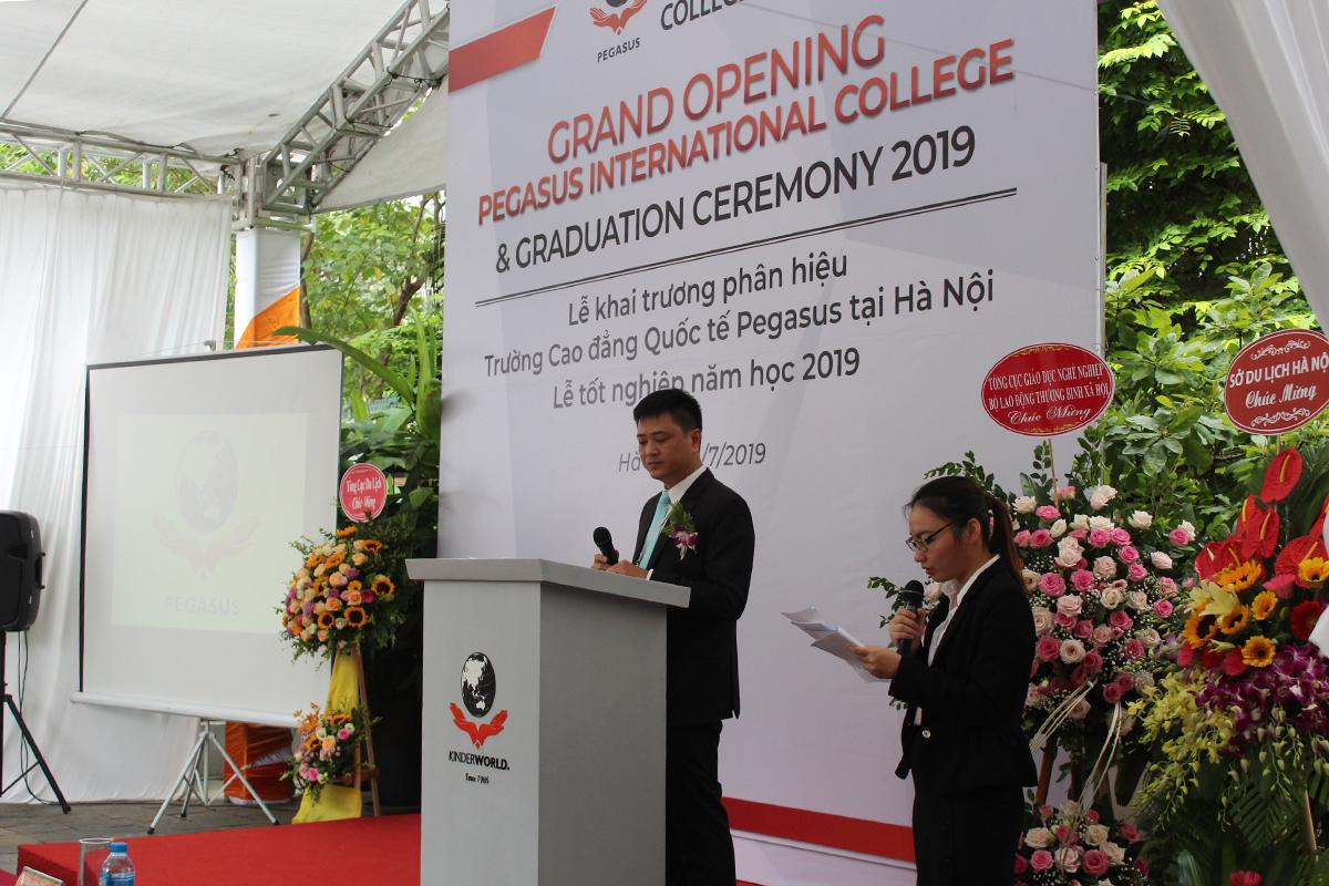 Bài phát biểu cảm ơn của ông Ngô Trung Hà, Giám đốc phân hiệu Pegasus Hà Nội